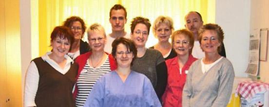Pflegeteam des Wohnbereichs im Seniorenheim Clausthal Zellerfeld Harz